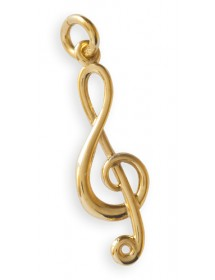 Jewelry treble clef pendant...