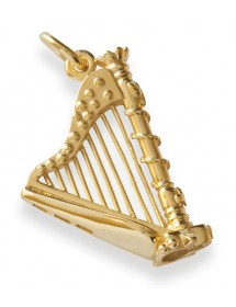 Jewelry harp pendant gold...
