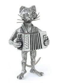 Chat accordéon en étain...