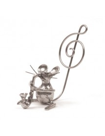 Saxophone mouse pewter...