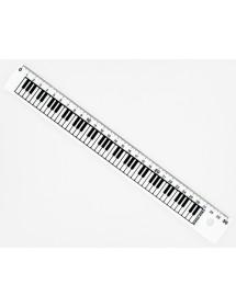 Ruler 30 cm white -...