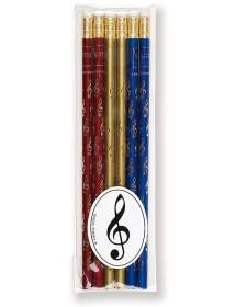 Pencils treble clef - red,...