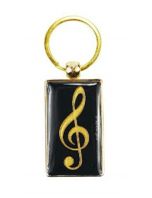 Treble clef Key ring -...