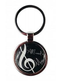 Treble Clef round Key ring...
