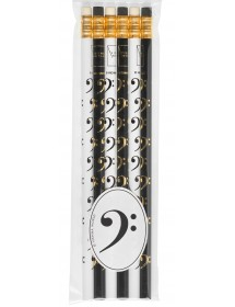 Pencils Bass clef - black...